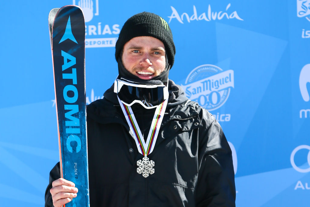 Gus Kenworthy of USA wins the silver medal during the FIS Freestyle Ski