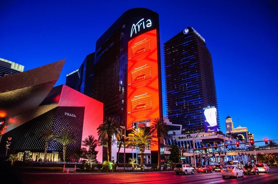 Famous Aria Hotel in Las Vegas