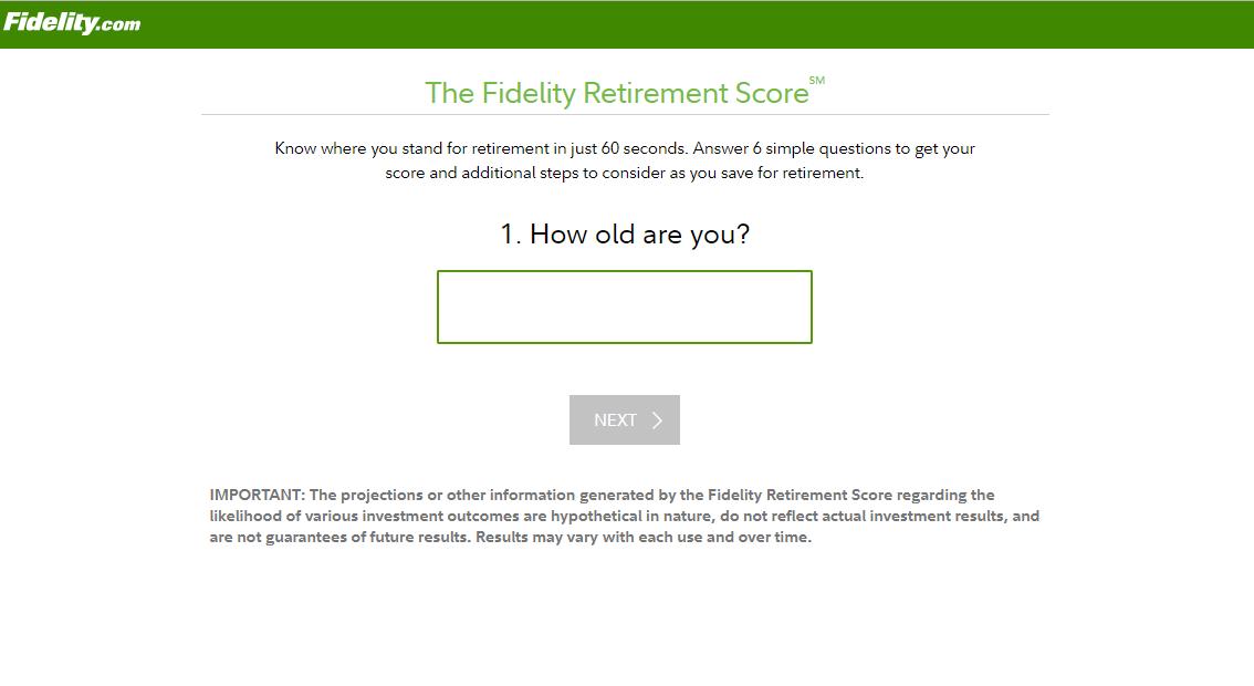 Fidelity Retirement Calculator