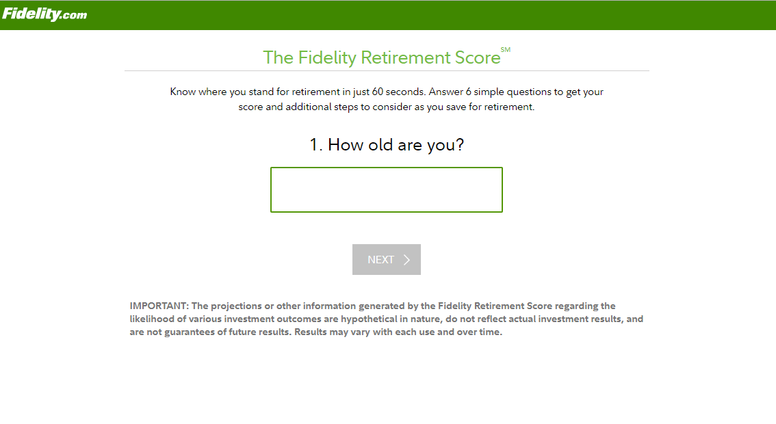 Fidelity Retirement Calculator