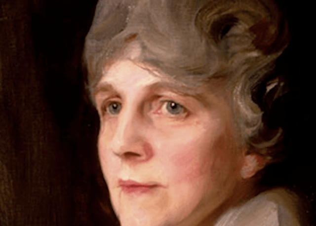 A painting of Florence Harding.