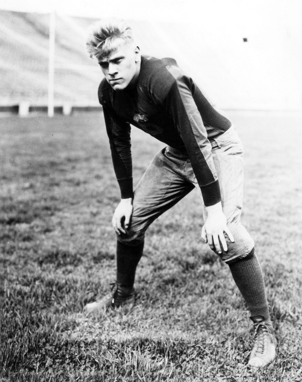 Former President Gerald Ford played center for the University of Michigan Wolverines