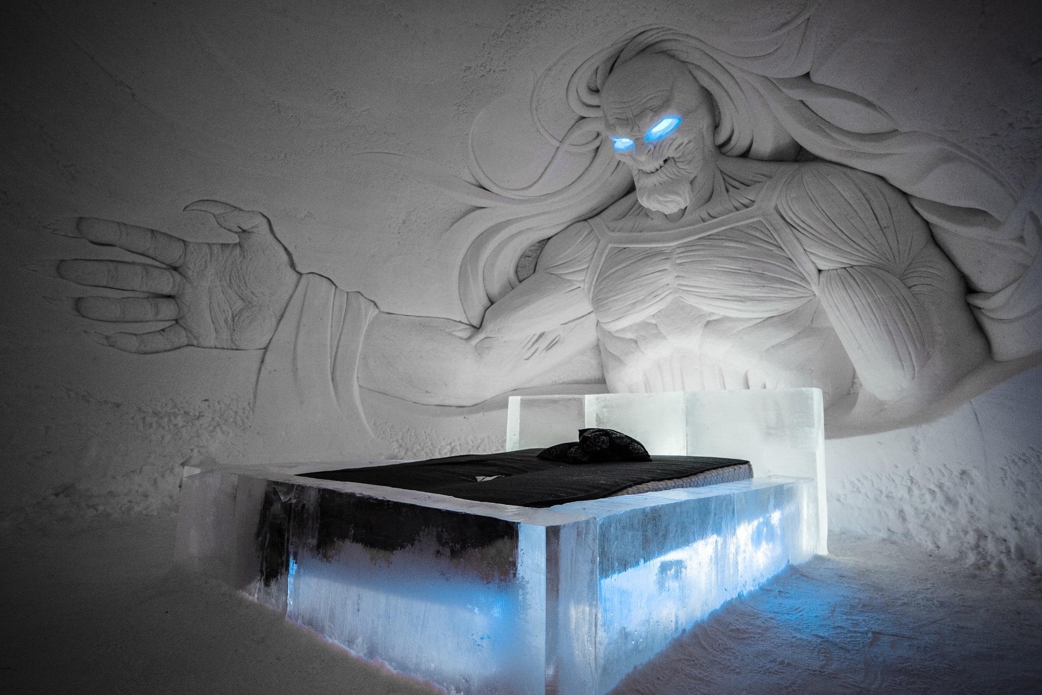 Game of thrones Ice hotel Lapland