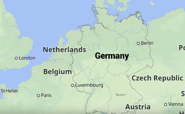 A map of Germany.