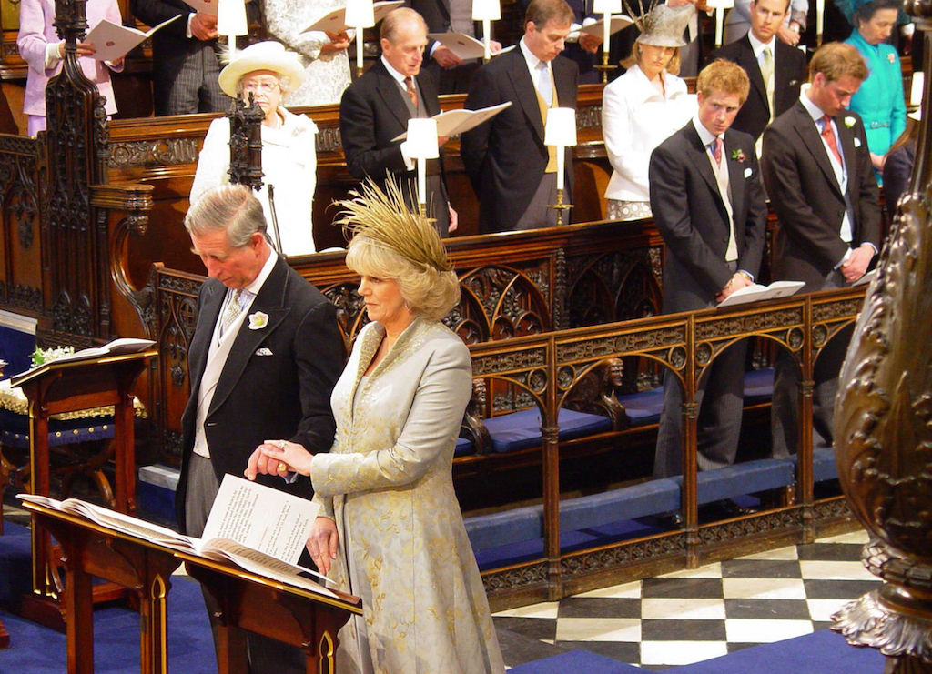 Charles and Camilla at their civil ceremony