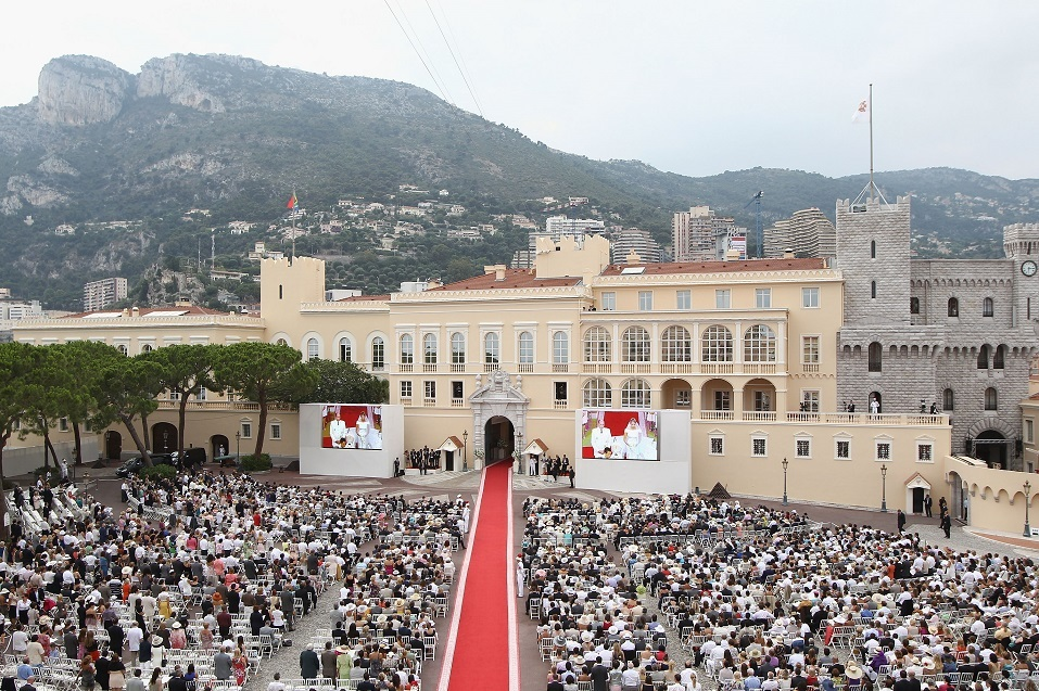 A general view during the religious ceremony of the Royal Wedding of Prince Albert II of Monaco to Princess Charlene