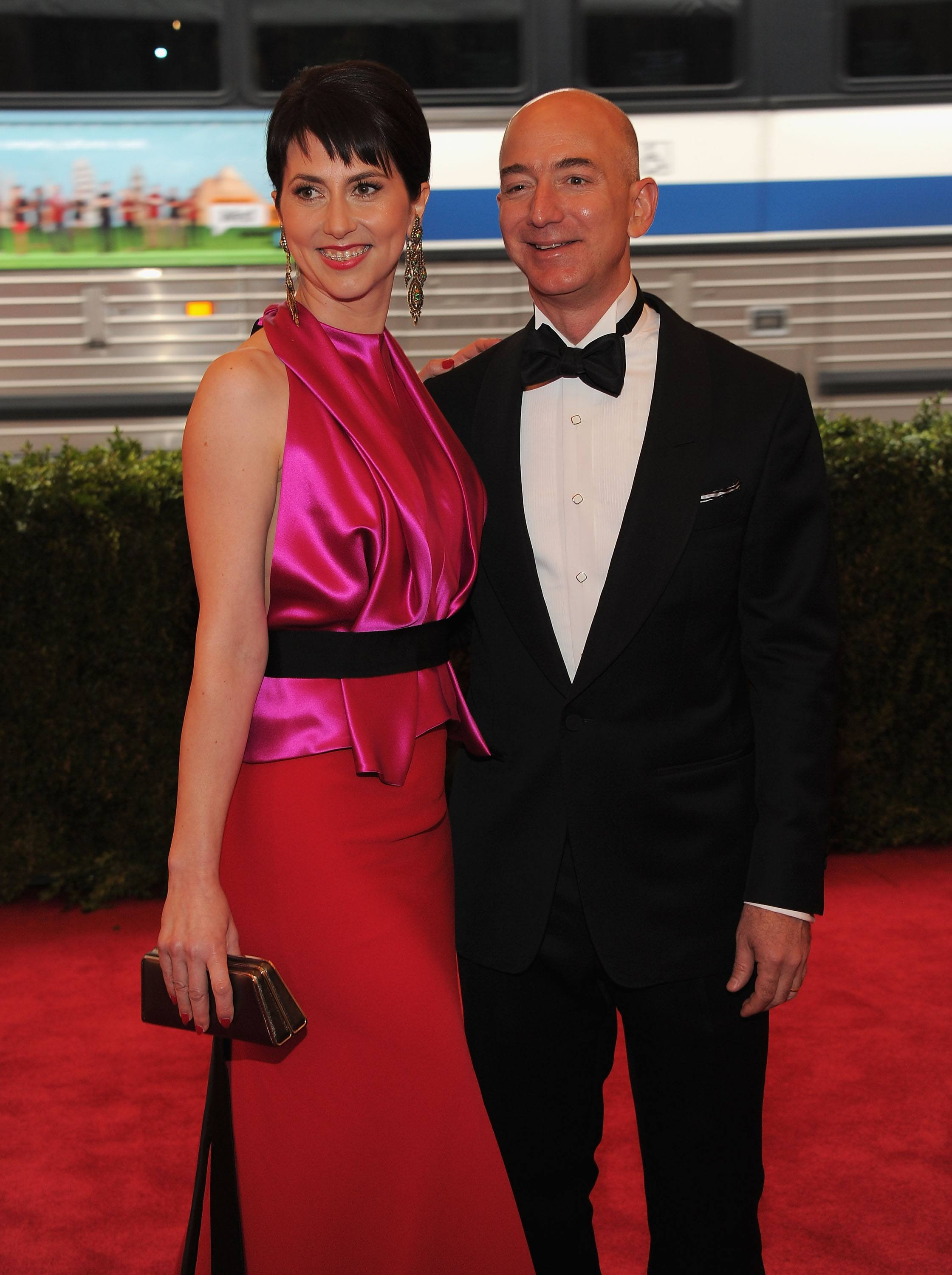 "Mackenzie and Jeff Bezos attend the ""Schiaparelli And Prada: Impossible Conversations"" Costume Institute Gala at the Metropolitan Museum of Art"