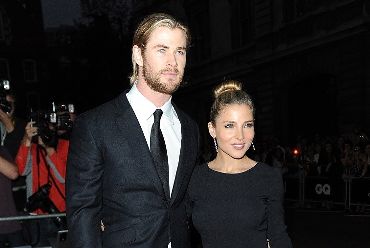 Chris Hemsworth and Elsa Pataky in 2012