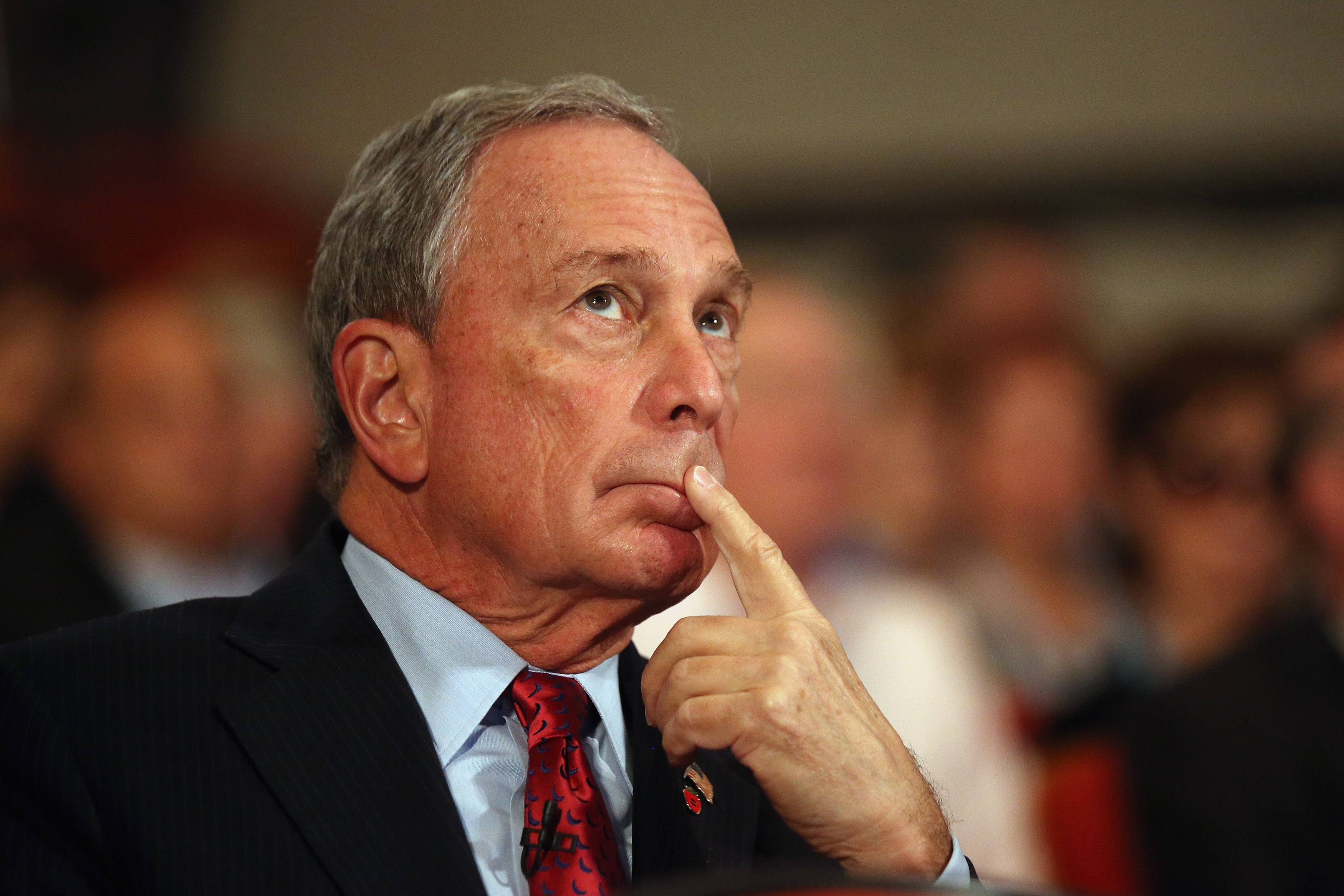 Michael Bloomberg thought about running for president for maybe two seconds.