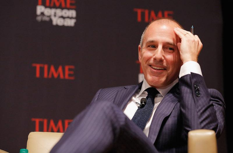 Matt Lauer attends TIME's Person of the Year Panel on November 13, 2012 in New York City.