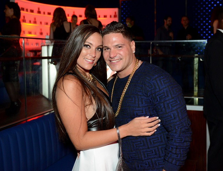 "Ronnie Ortiz-Magro and Sammi Giancola attend Intouch Weekly's ""ICONS & IDOLS Party"" on August 25, 2013 in New York, United States."