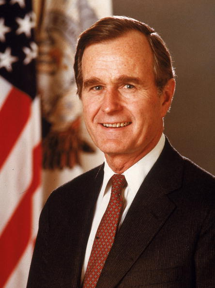 a portrait of George H. W. Bush