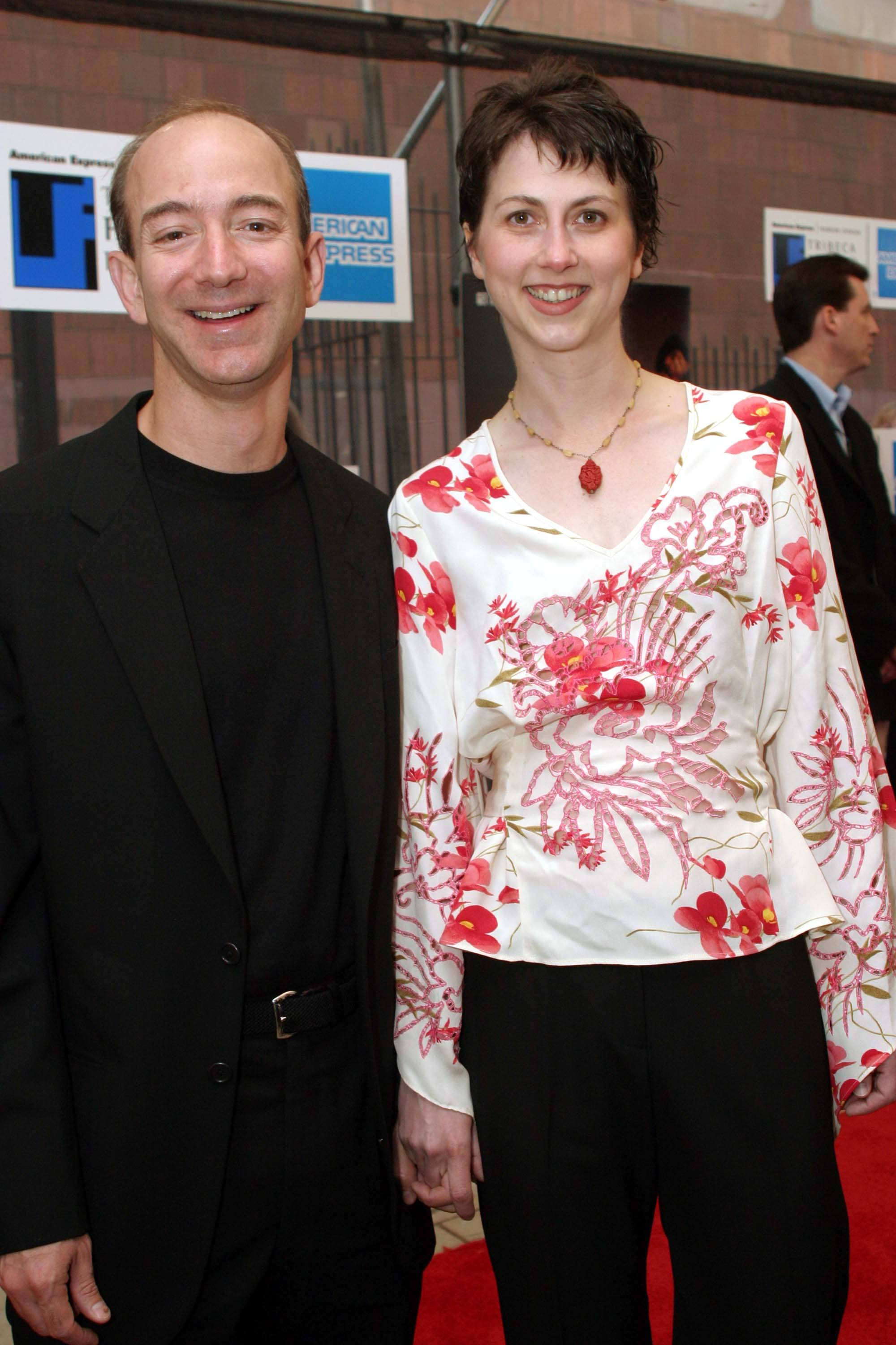 Jeff and Mackenzie Bezos at the premiere of 'The Italian Job' at the Tribeca Film Festival