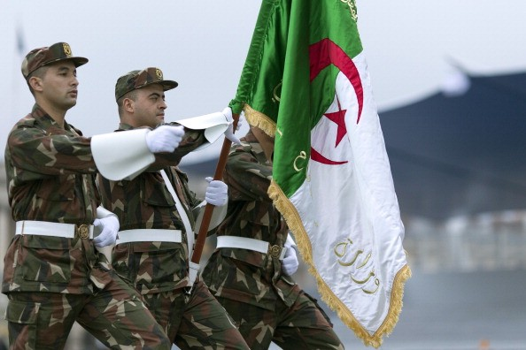 Algerian soldiers parade on July 12, 2014 on the Champs Elysees avenue in Paris, during a rehearsal of the French national celebration, the Bastille Day, two days ahead of the event. France issued an unprecedented invitation to all 72 countries involved in World War I (WWI) to take part in its annual Bastille Day military parade. Bastille Day, on July 14, will fall just before the 100th anniversary of the start of the 1914-18 Great War