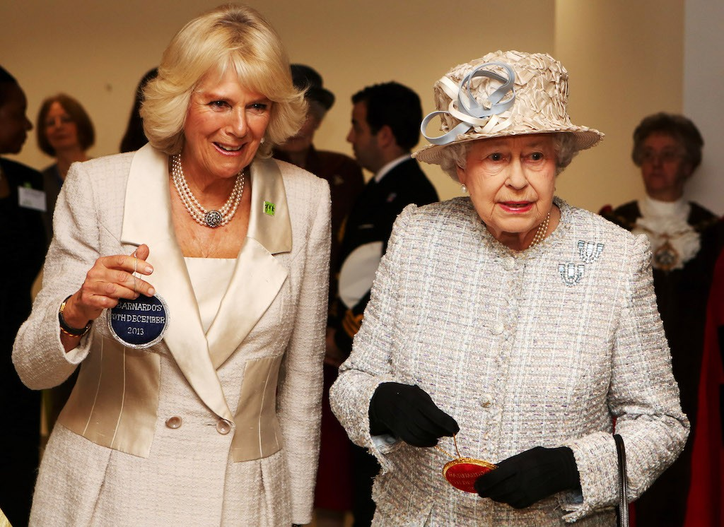 Camilla and Queen Elizabeth at an event