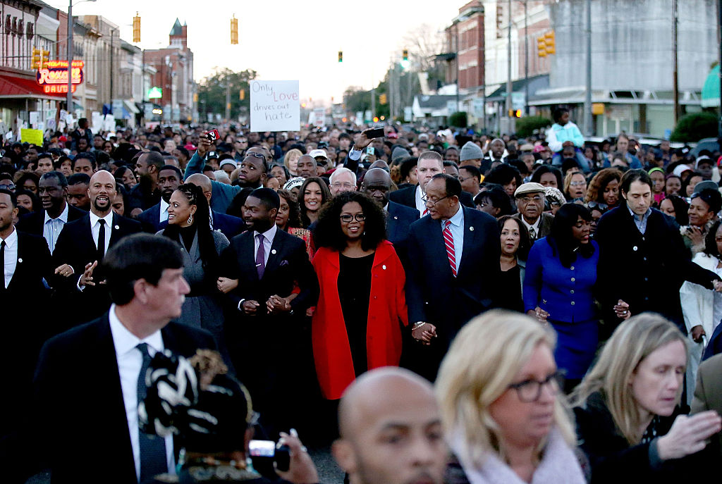 oprah marches for equality in selma