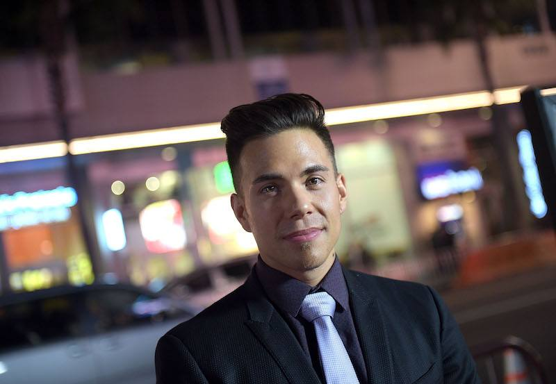 "Athlete Apolo Ohno attends the premiere of ""Manny"" at TCL Chinese Theatre on January 20, 2015 in Hollywood, California."