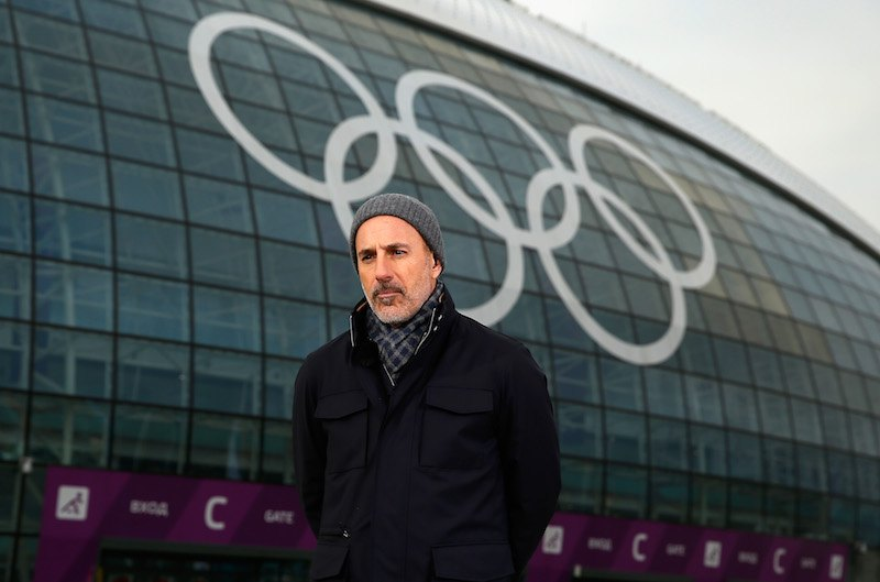 Matt Lauer reports for the NBC Today show in the Olympic Park ahead of the Sochi 2014 Winter Olympics on February 5, 2014 in Sochi, Russia. (Photo by Scott Halleran/Getty Images)