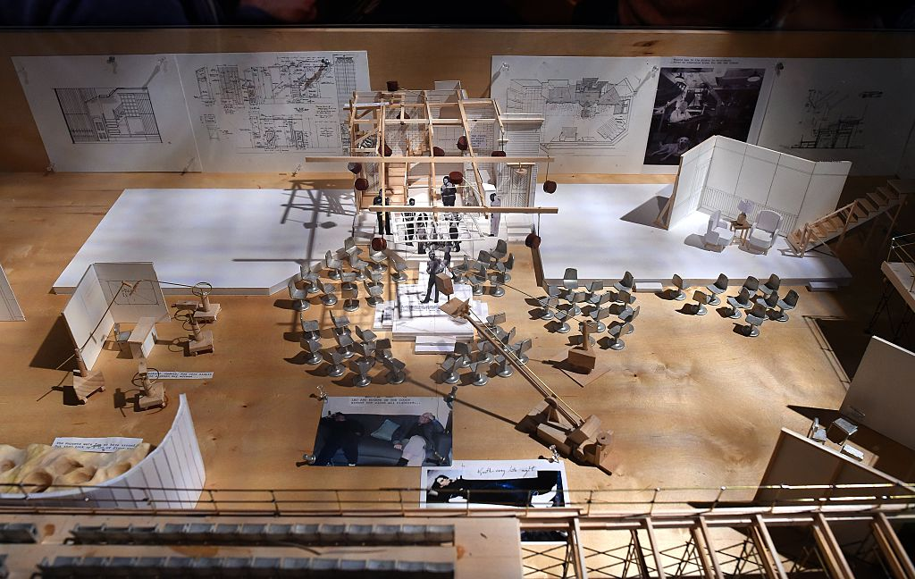 A model of the SNL stage on display