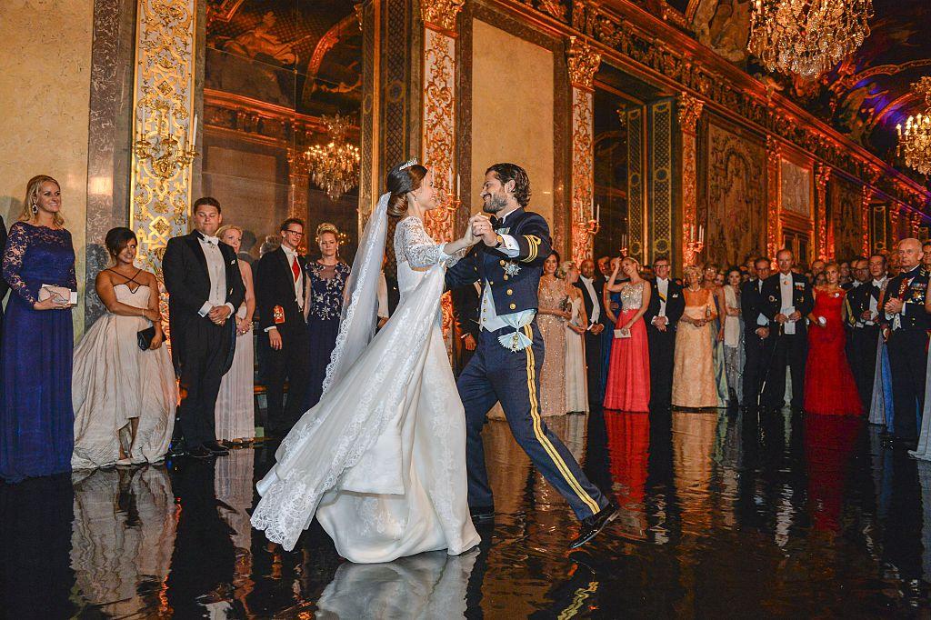 Princess Sofia and Prince Carl Philip dance their first dance
