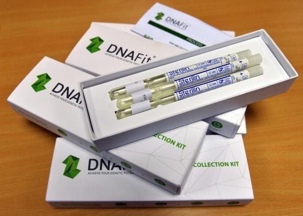 A DNA swab testing kit
