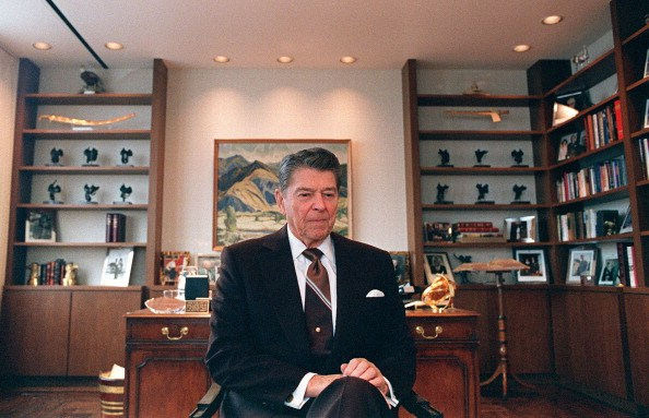 Ronald Reagan at the end of his presidency.