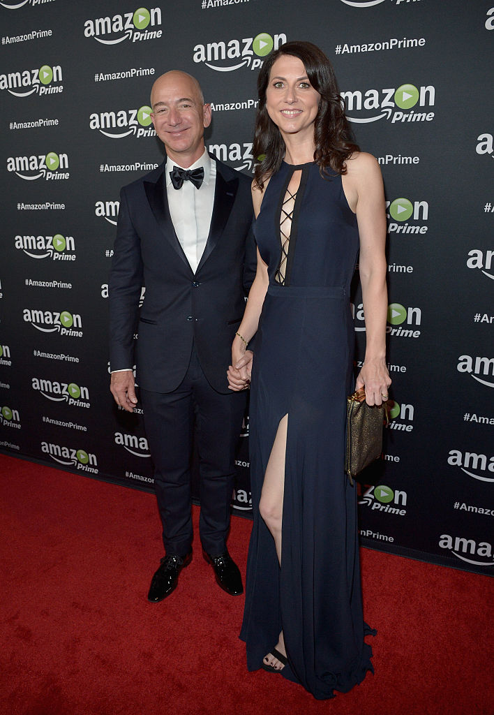 Jeff and MacKenzie Bezos attend Amazon Prime's Emmy Celebration