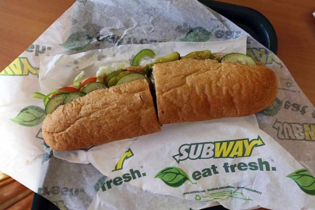 A classic footlong at Subway