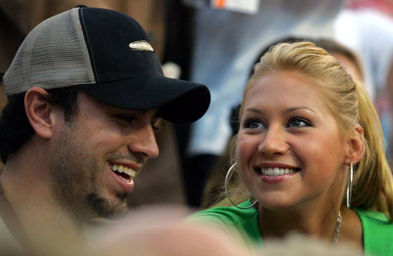 Enrique Iglesias and Anna Kournikova