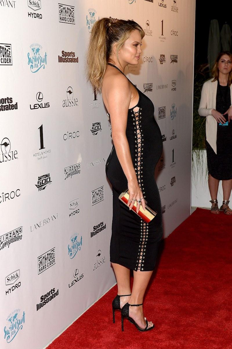 Model Chrissy Teigen attends the Sports Illustrated Swimsuit 2016 Swim BBQ