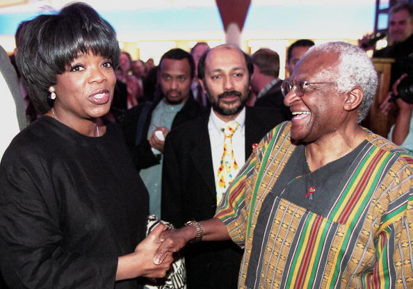 oprah and desmond tutu in 2000