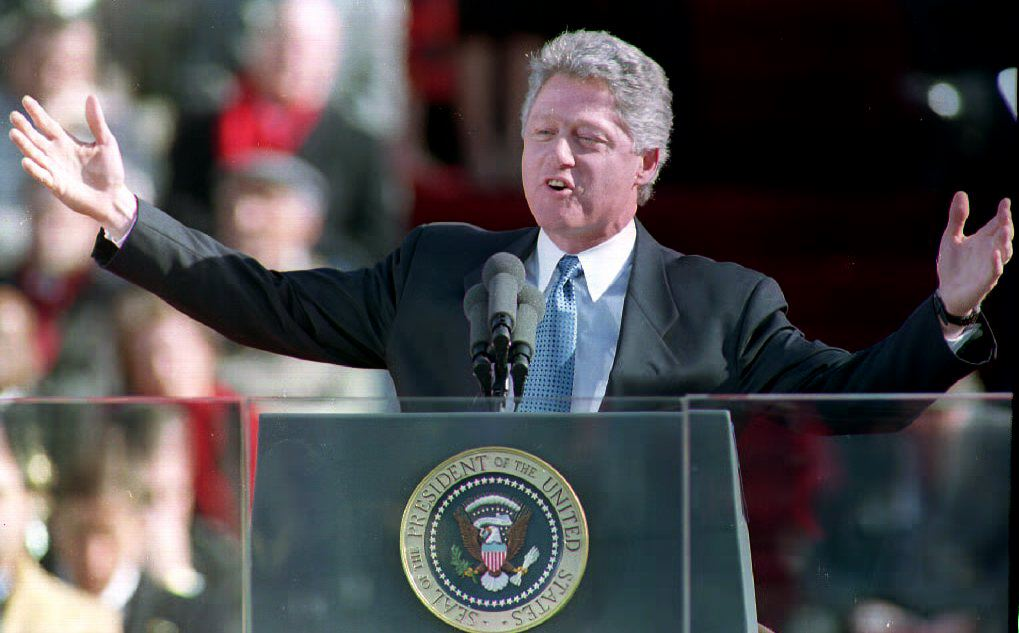 president bill clinton giving his inaugural address