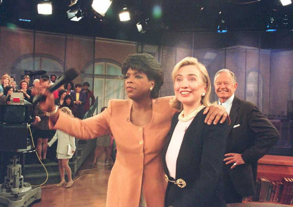 oprah and hillary clinton on her talk show
