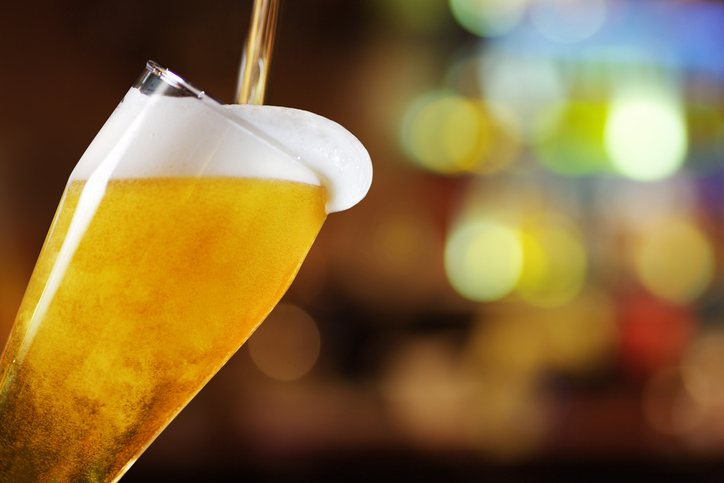 Inclined Glass of beer