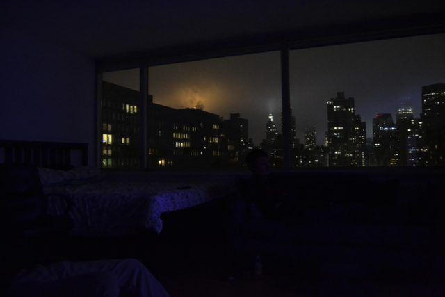 Picture on a winter overcast evening from an apartment in Midtown Manhattan