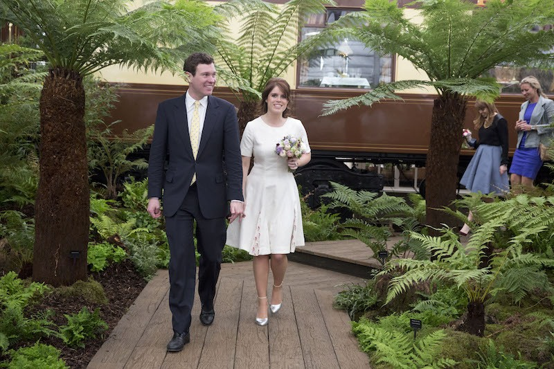 Princess Eugenie and Jack Brooksbank attend the Chelsea Flower Show press day