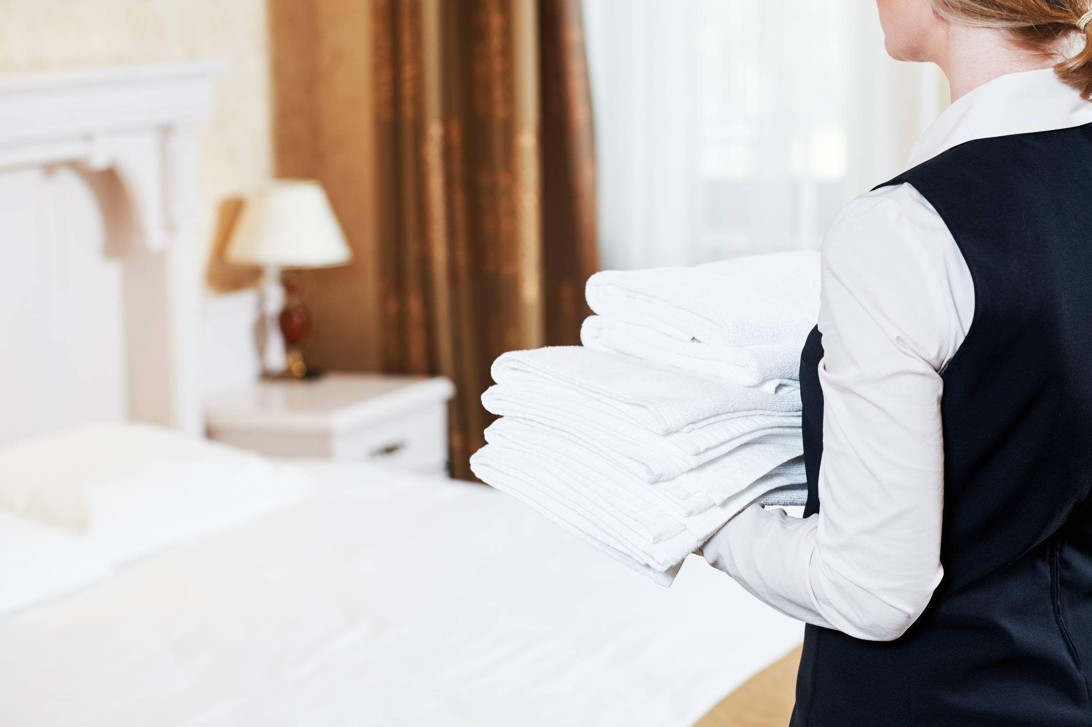 housekeeping in hotel room