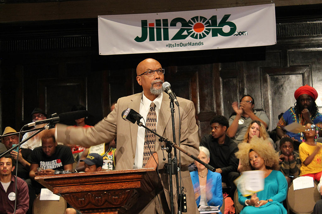 ajamu baraka at a jill stein event