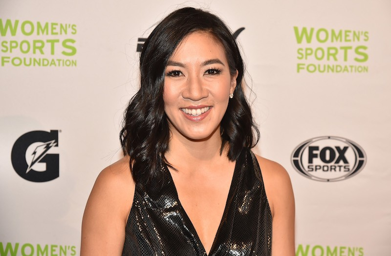 igure Skater Michelle Kwan attends the 37th Annual Salute To Women In Sports Gala at Cipriani Wall Street on October 19, 2016 in New York City. (Photo by Theo Wargo/Getty Images for Women's Sports Foundation )
