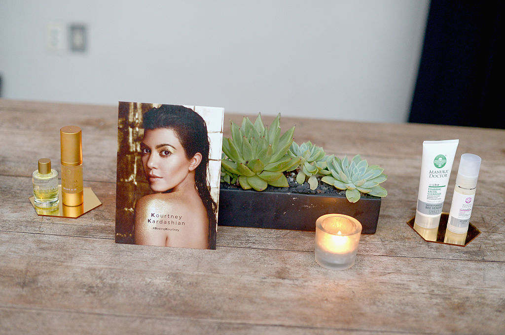 Manuka Doctor skincare products are seen on display during Cocktail Party With Manuka Doctor Global Brand Ambassador Kourtney Kardashian at Gracias Madre on October 19, 2016 in West Hollywood, California.