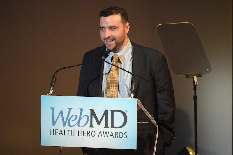 Presenter of People's Choice Award David Krumholtz speaks onstage during WebMD Health Heroes Award
