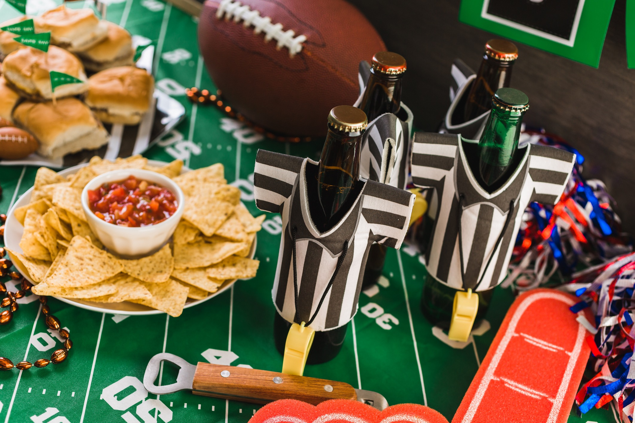 snacks at football party