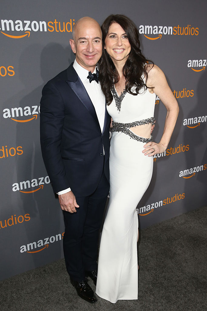 Jeff and MacKenzie Bezos attend Amazon Studios Golden Globes Celebration