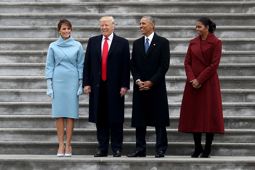 the trumps and obamas on inauguration day
