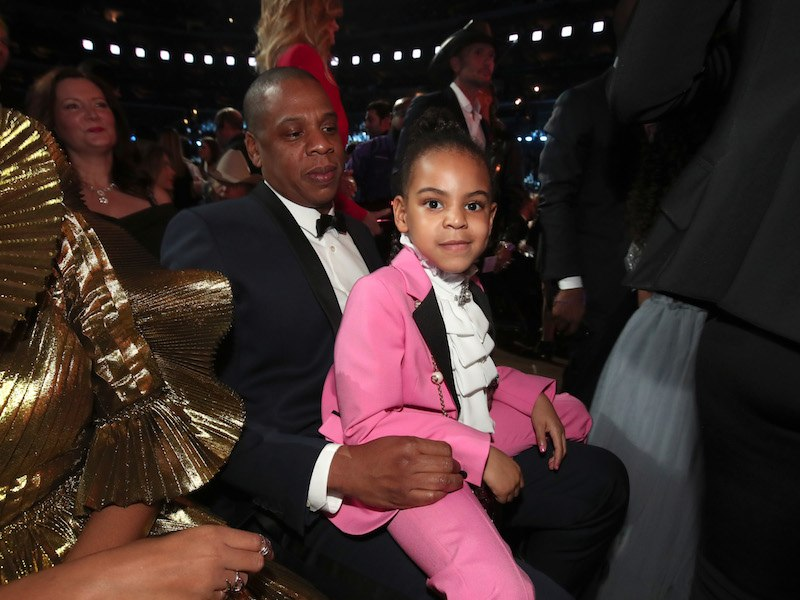 Hip-Hop Artist Jay-Z and daughter Blue Ivy Carter