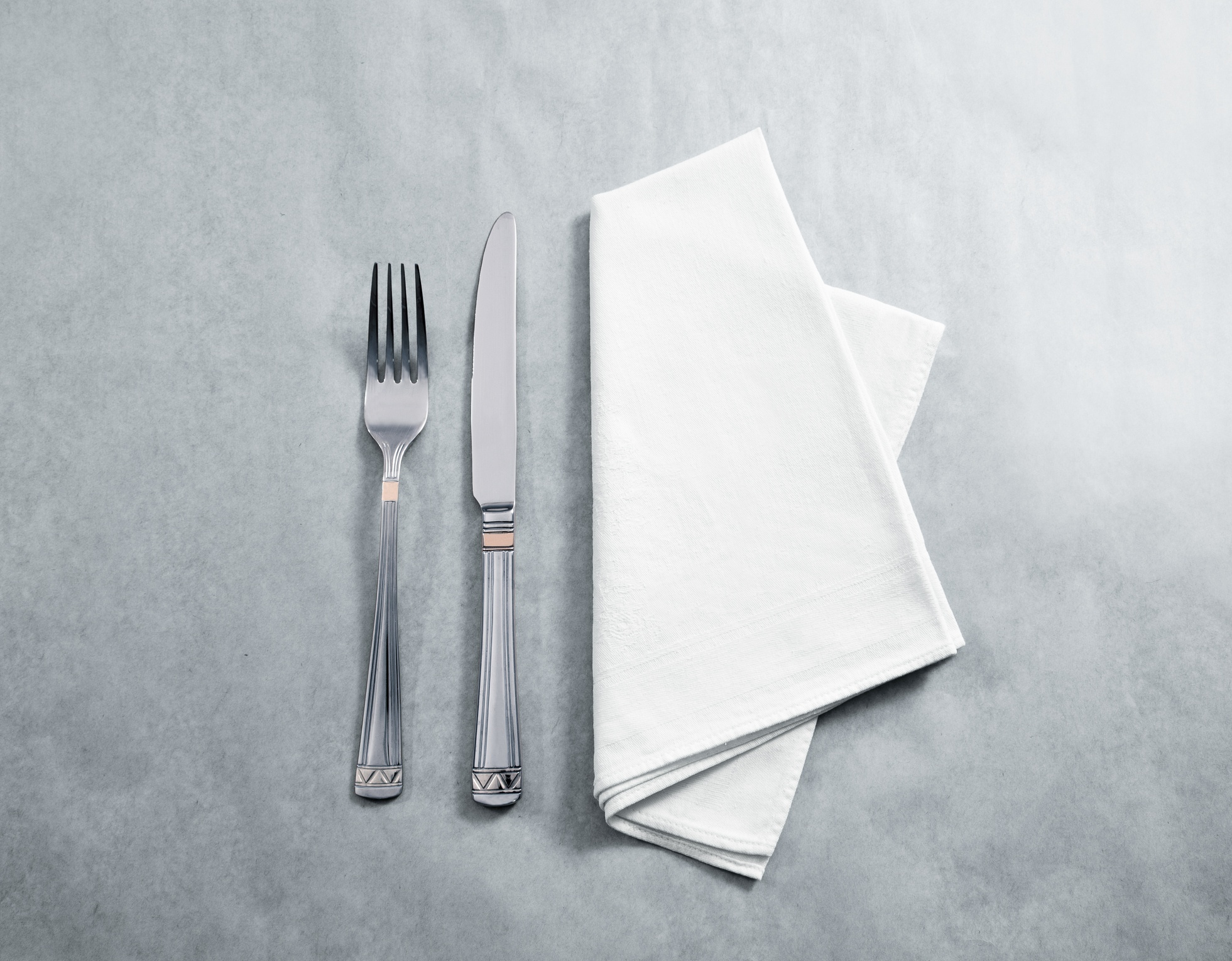 napkin with fork and knife