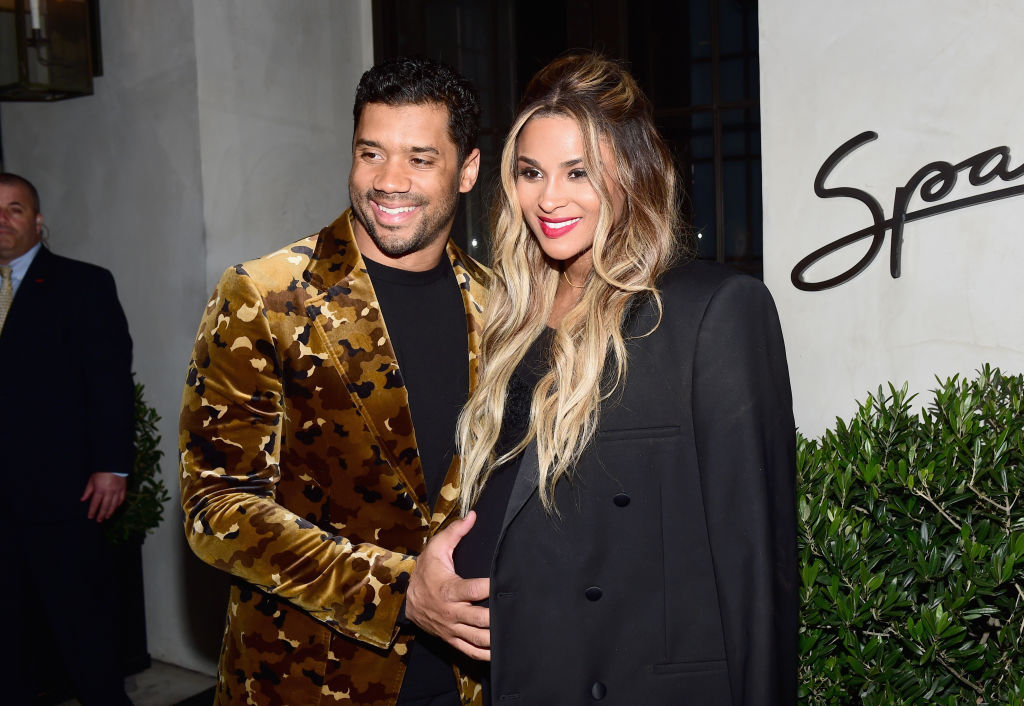 "Russell Wilson and Ciara Vanity Fair and Genesis Celebrate ""Hidden Figures"" on February 24, 2017 in Los Angeles, California."