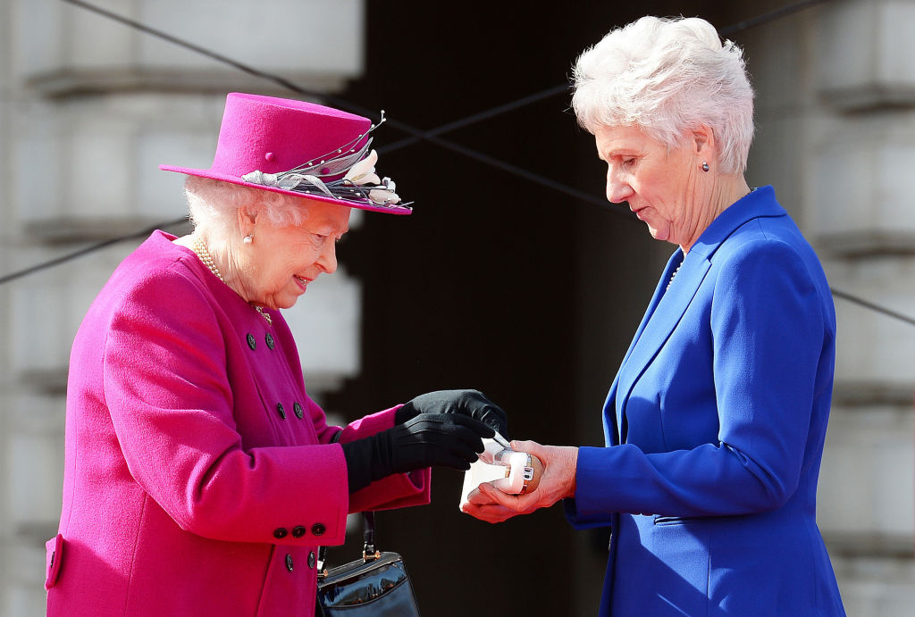 Queen Elizabeth II at the Commonwealth Games in 2017.