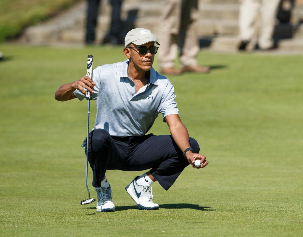 Barack Obama on a golf course