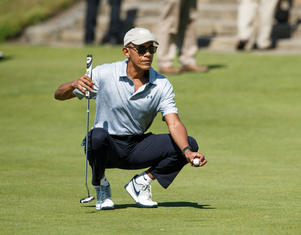 Barack Obama on a golf course